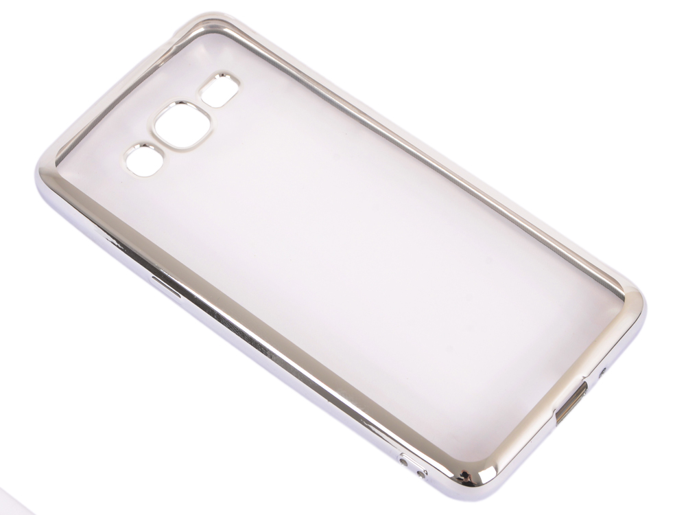 Силиконовый чехол с рамкой для Samsung Galaxy J2 Prime/Grand Prime (2016) DF sCase-36 (silver) все цены