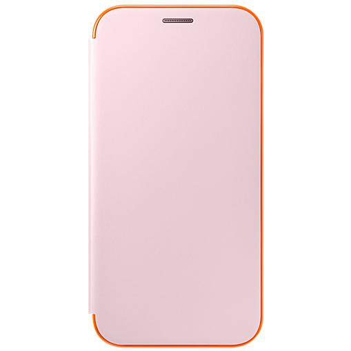 цена на Чехол-накладка для Samsung Galaxy A7 2016 Samsung EF-FA720PPEGRU Neon Flip Cover Pink клип-кейс, поликарбонат, полиуретан