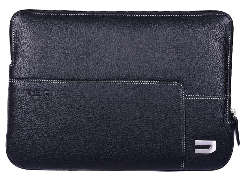 Чехол Urbano Leather Sleeve для ноутбука MacBook Pro 13 с Touch Bar. Материал кожа. Цвет черный. чехол для ноутбука macbook pro 13 moshi muse 13 черный 99mo034004