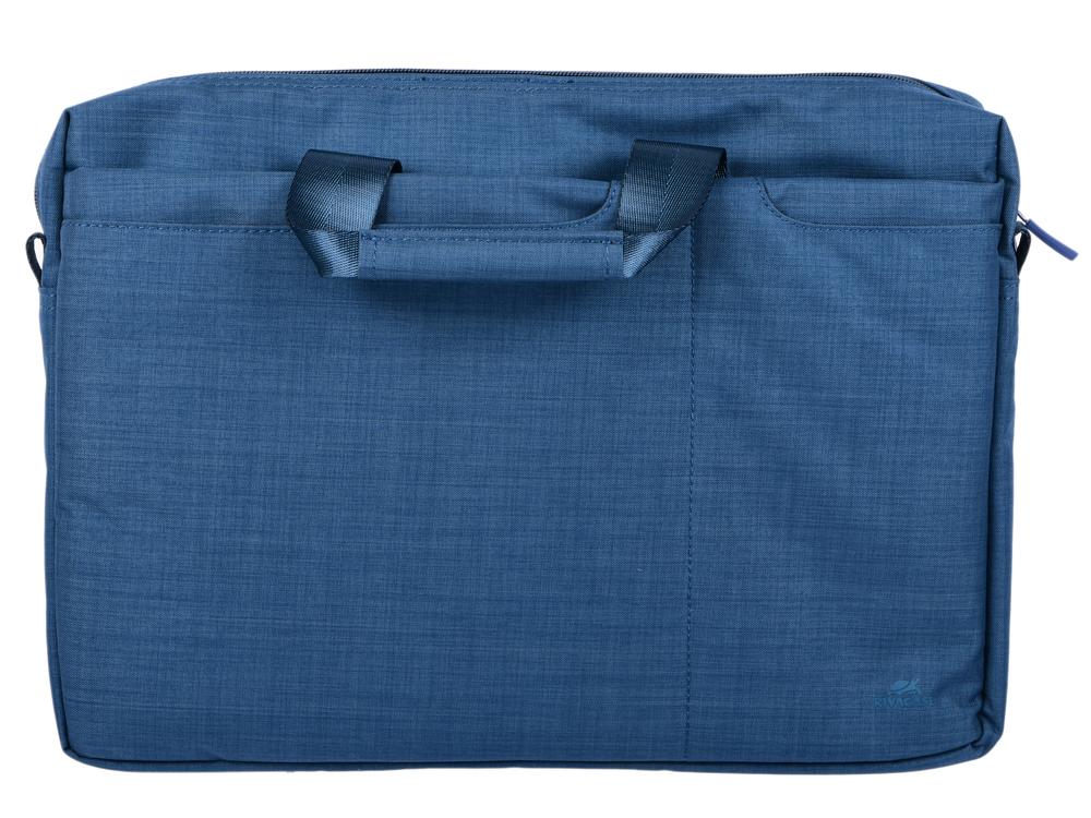 Сумка для ноутбука 15.6 Riva 8335 полиэстер синий сумка moshi aerio lite для ipad и других планшетов материал хлопок полиэстер цвет синий