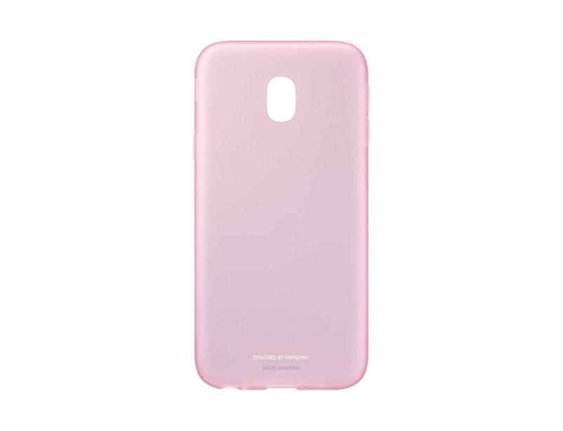 Чехол-накладка для Samsung Galaxy J3 2017 Samsung Jelly Cover EF-AJ330TPEGRU Pink клип-кейс, силикон чехол samsung для samsung galaxy j2 2018 jelly cover черный ef aj250tbegru