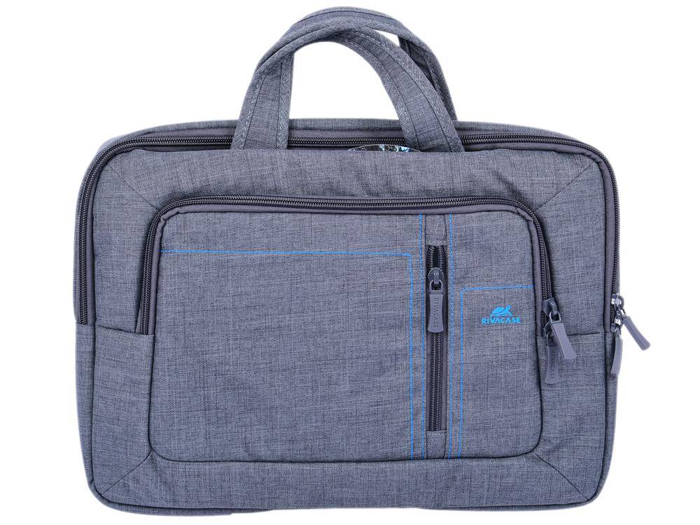 "Сумка для ноутбука 13.3"" Riva 7520 полиэстер серый"