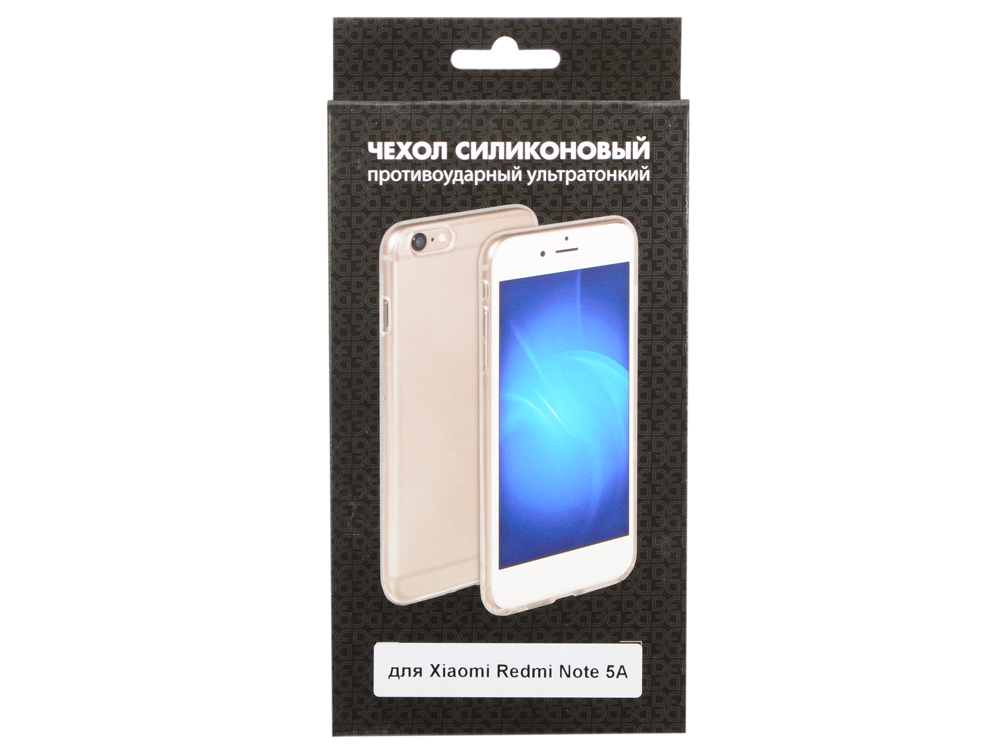 Чехол-накладка для Xiaomi Redmi Note 5A DF xiCase-19 клип-кейс, прозрачный силикон new safurance 15w led infrared pir sensor ceiling mount lamp light ac110 265v for room building automation home security
