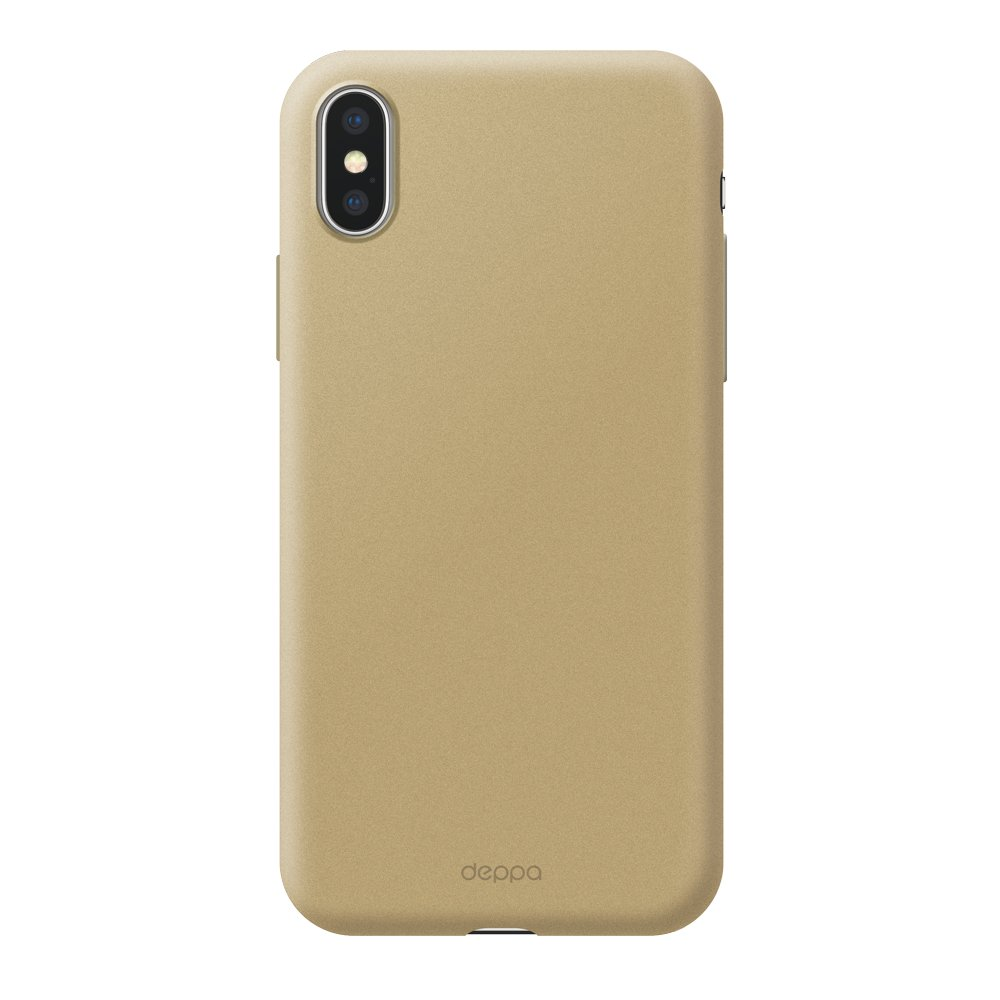 Чехол Deppa Air Case для Apple iPhone X/XS, золотой чехол deppa air case для apple iphone x xs розовое золото