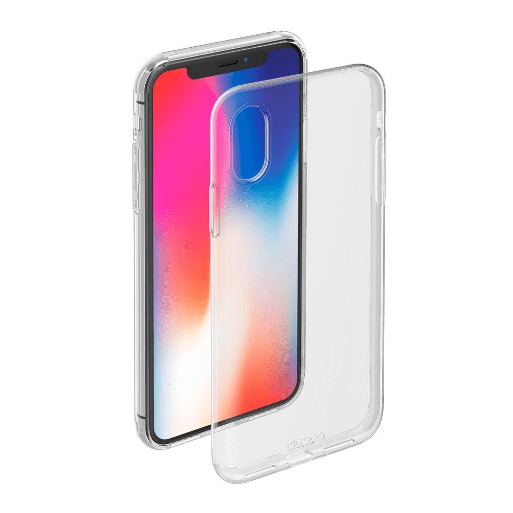 Чехол Deppa Gel Case 85335 для Apple iPhone X/XS, прозрачный чехол deppa gel case для apple iphone xs max прозрачный