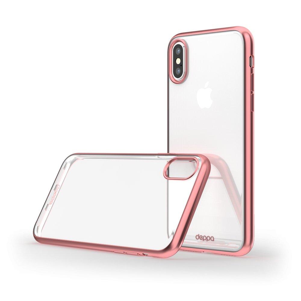 Фото - Чехол Deppa Gel Plus Case матовый для Apple iPhone X, розовое золото чехол для iphone 7 plus deppa art case star wars изгой альянс повстанцев