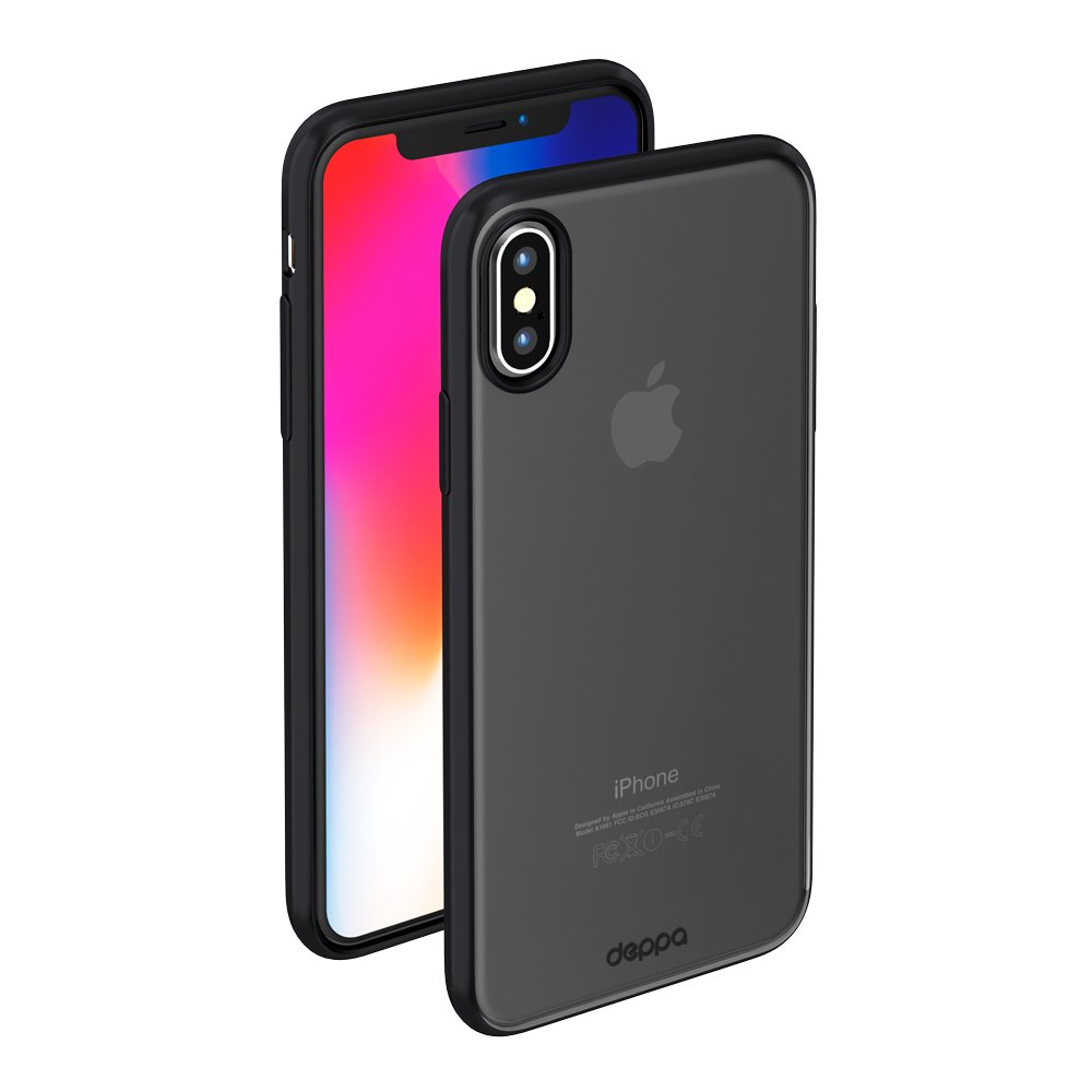 цена на Чехол Deppa Gel Plus Case матовый для Apple iPhone X, черный