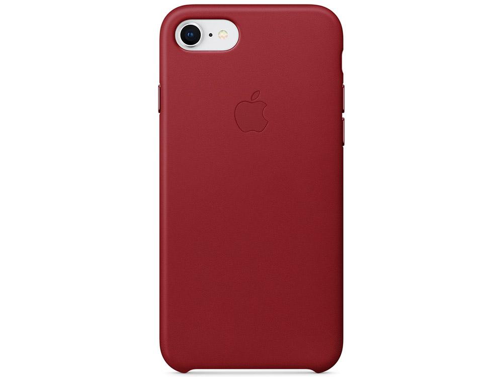 Чехол-накладка для iPhone 7/8 Apple Leather Case MQHA2ZM/A Red клип-кейс, кожа цена и фото