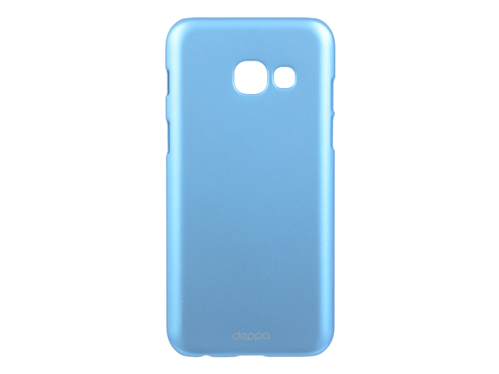 Чехол-накладка для Samsung Galaxy A3 2017 Deppa Air Case 83282 Blue клип-кейс, поликарбонат чехол клип кейс yoobao glow protect case для samsung galaxy s3 i 9300 белый