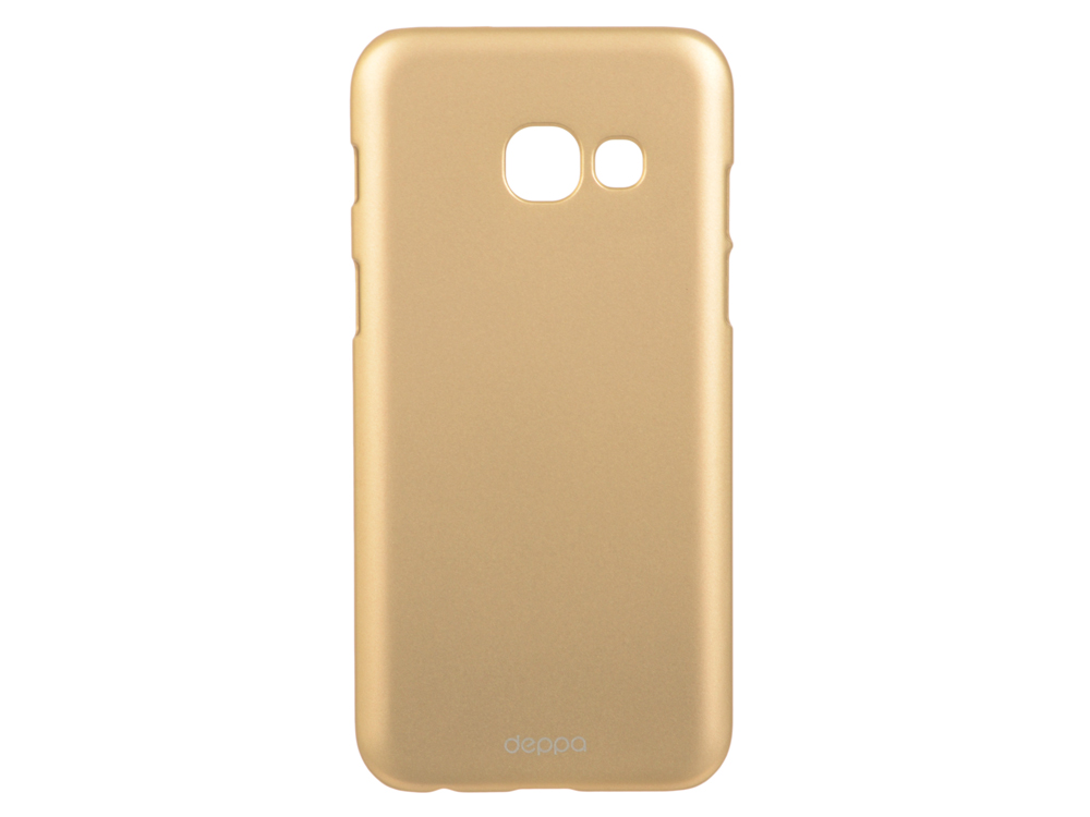 Чехол-накладка для Samsung Galaxy A3 2017 Deppa Air Case 83284 Gold клип-кейс, поликарбонат чехол клип кейс yoobao glow protect case для samsung galaxy s3 i 9300 белый