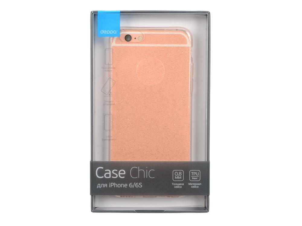 Чехол-накладка для Apple iPhone 6/6S Deppa Chic Case 85296 Pink клип-кейс, полиуретан deppa art case чехол для apple iphone 6 6s jungle колибри