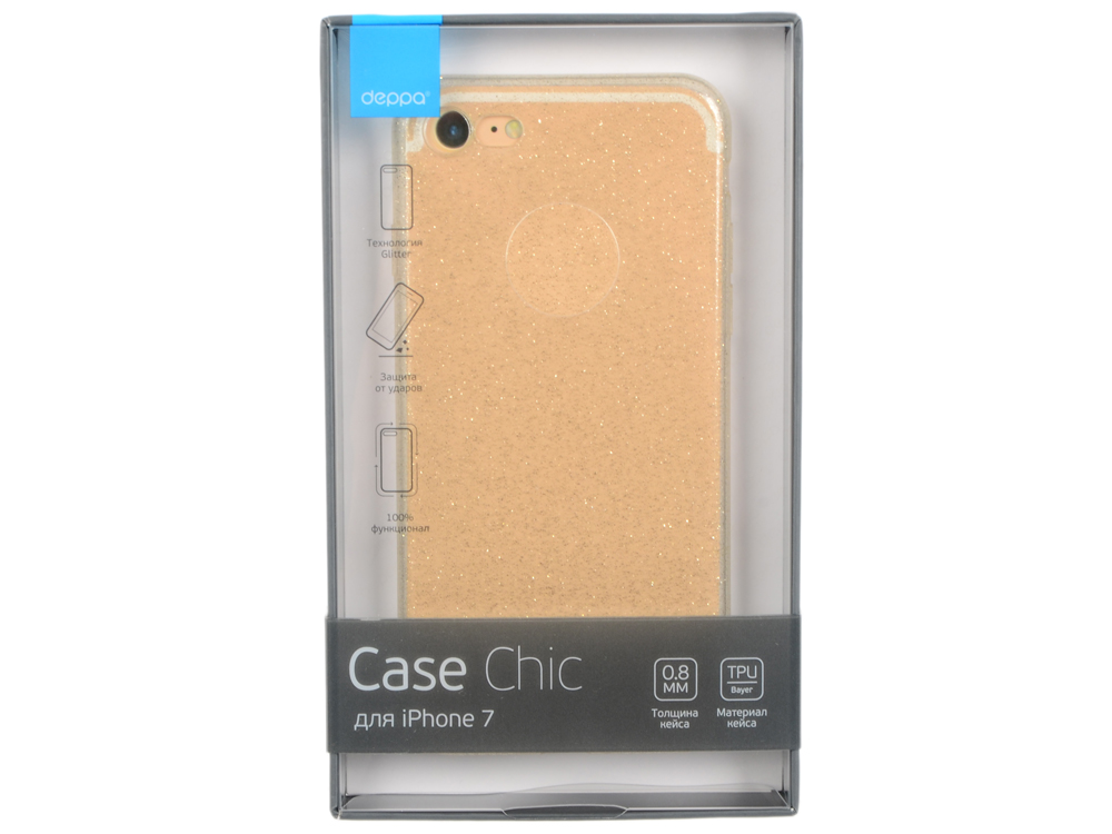 Чехол Deppa Chic Case для Apple iPhone 7 / iPhone 8, золотой, 85297 so seven cannes чехол для apple iphone 8 7