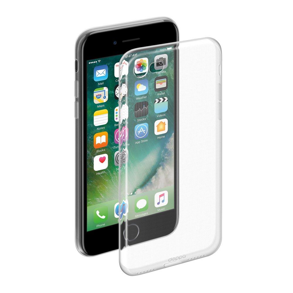 Чехол Deppa Gel Case для Apple iPhone 7/8, прозрачный чехол deppa gel case для apple iphone xs max прозрачный