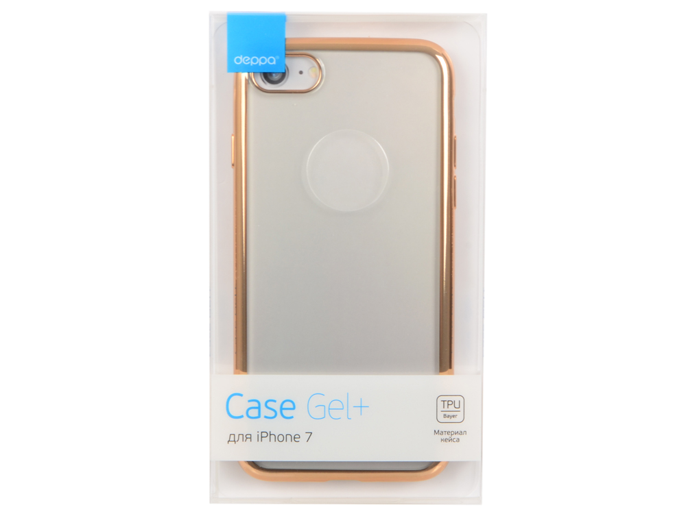 Чехол Deppa Gel Plus Case для Apple iPhone 7 / iPhone 8, золотой, 85256