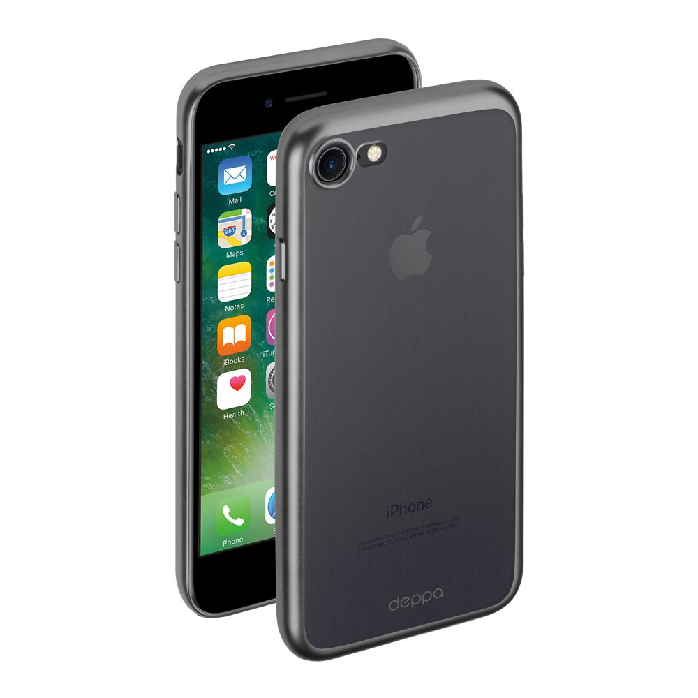 Фото - Чехол Deppa Gel Plus Case матовый для Apple iPhone 7/8, графит чехол для apple iphone 8 apple iphone 7 apple iphone 6 6s plasma series case для iphone 6s 7 8