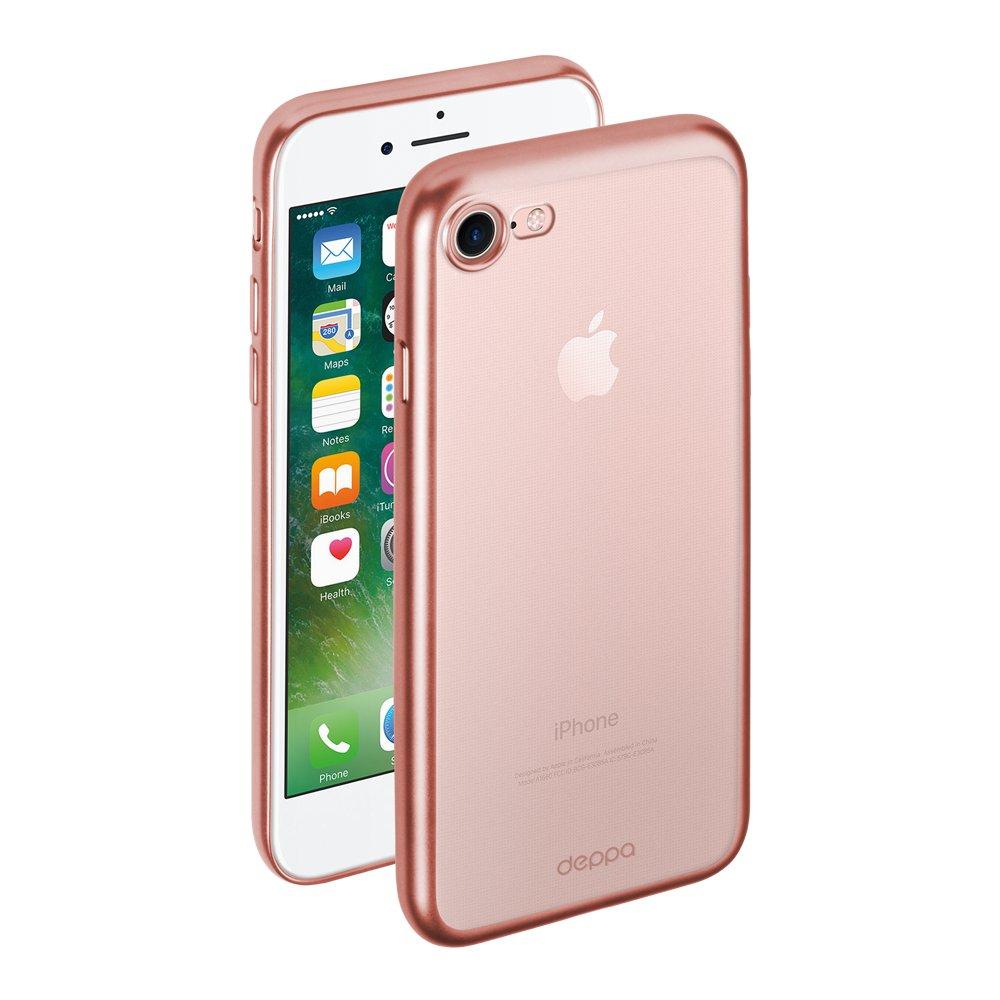 Чехол Deppa Gel Plus Case матовый для Apple iPhone 7/8, розовое золото goowiiz розовое золото iphone 8