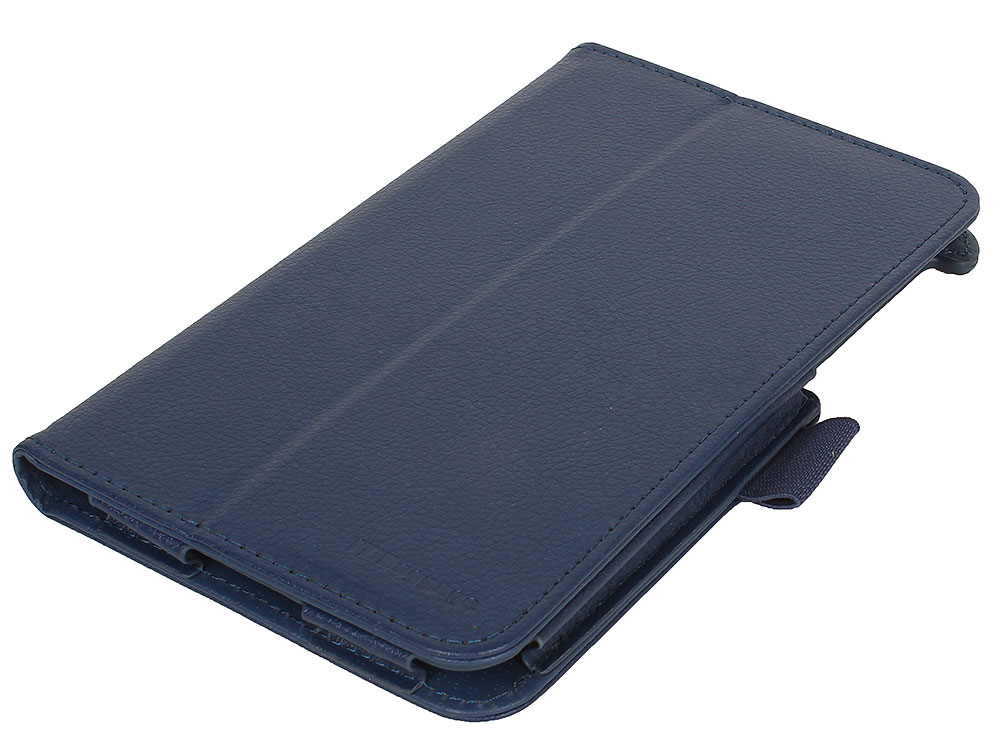 Чехол-книжка для планшета LENOVO TB3 Essential 7 IT BAGGAGE 710i/710F Blue флип, искусственная кожа чехол книжка универсальный 8 it baggage ituni89 1 black флип искусственная кожа
