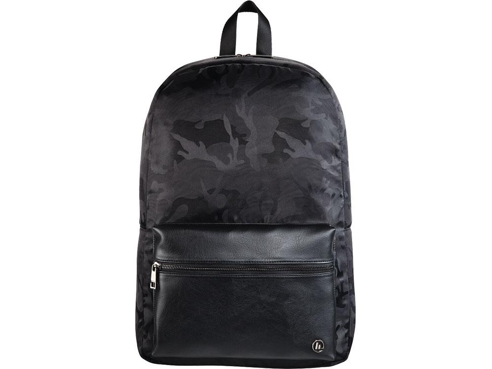 104facadfd12 2) Рюкзак для ноутбука 15.6 Hama Mission Camo черный/камуфляж полиэстер  (00101599)