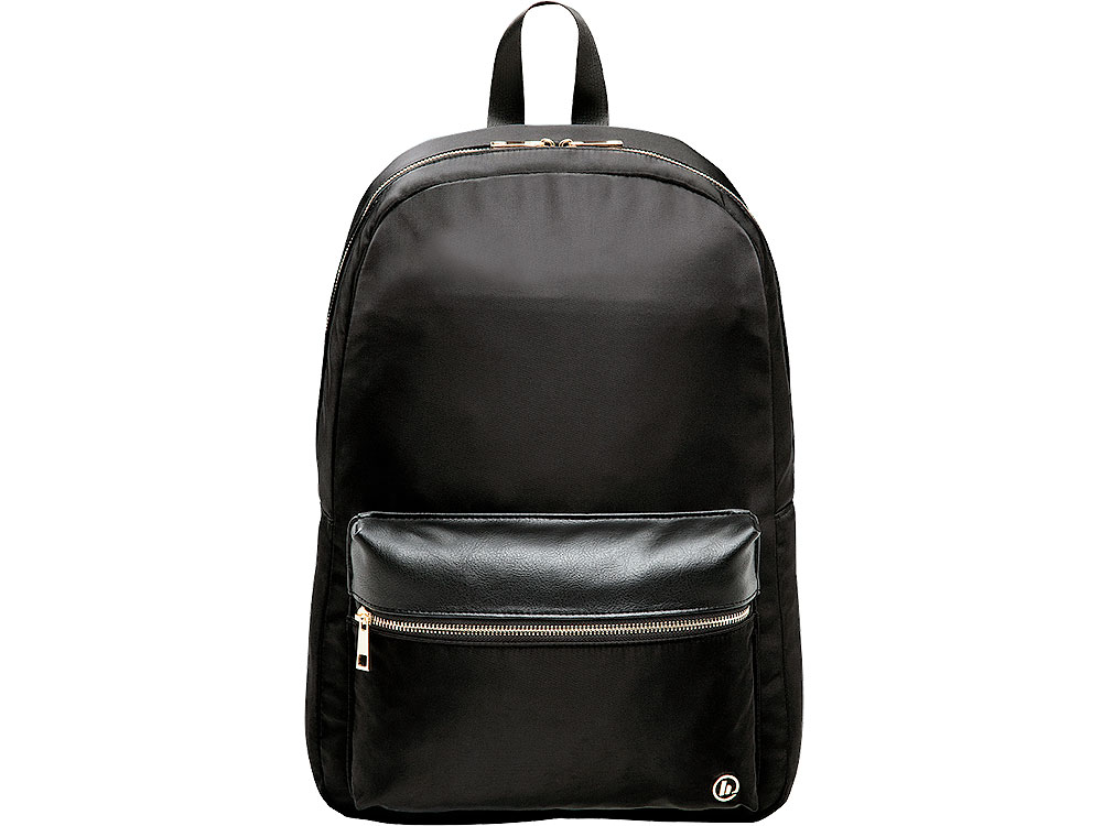 601e9604e20e 1) Рюкзак для ноутбука 15.6 Hama Mission черный/золотистый полиэстер  (00101589)