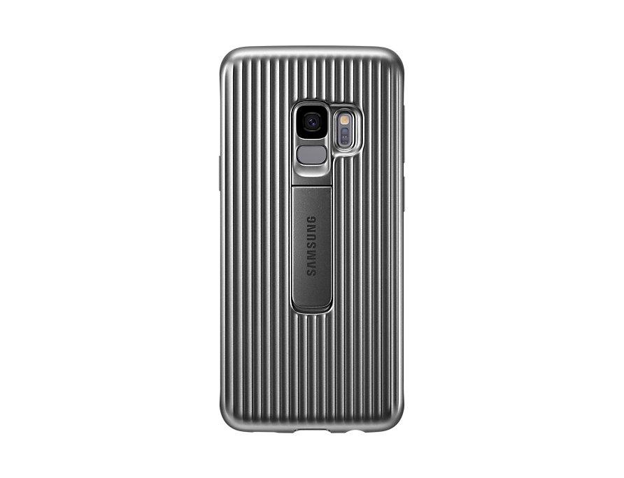 Чехол-накладка для Samsung Galaxy S9 Samsung Protective Standing Silver (EF-RG960CSEGRU) клип-кейс, поликарбонат клип кейс samsung galaxy s10 plus ef rg975c protective standing cover silver