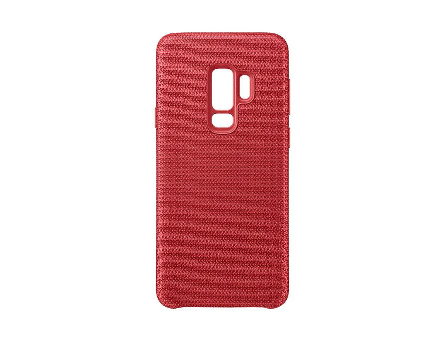 Чехол-накладка для Samsung Galaxy S9+ Samsung Hyperknit Cover Red клип-кейс, полиуретан samsung rb37j5461ef