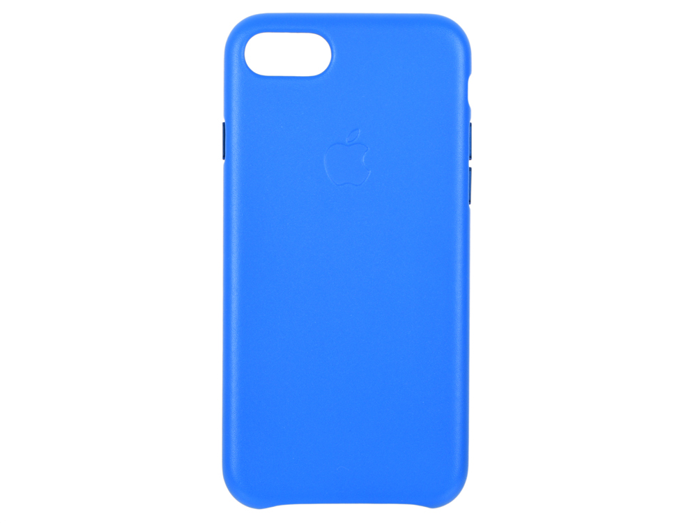 Чехол-накладка для iPhone 8 / 7 Apple Leather Case Electric Blue клип-кейс, кожа цена и фото