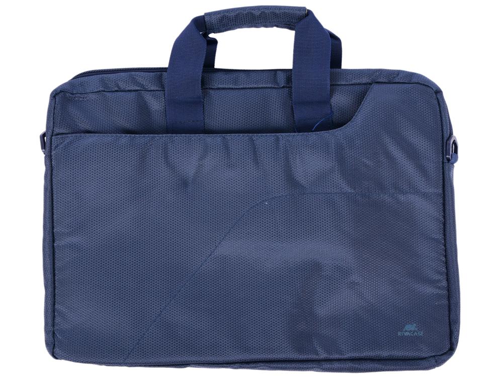 Сумка для ноутбука 15.6 Riva 8035 полиэстер синий сумка moshi aerio lite для ipad и других планшетов материал хлопок полиэстер цвет синий