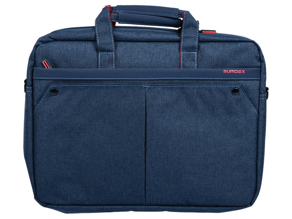 Сумка для ноутбука Sumdex PON-202 NV до 15,6 (полиэстер, цвет navi, 40 x 30.5 x 7 см) 17 3 сумка для ноутбука sumdex pon 303jb нейлоновая черная