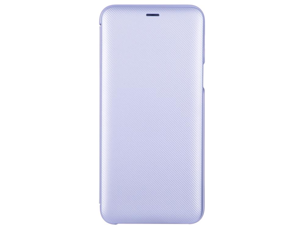 Чехол-книжка для Samsung Galaxy A6+ (2018) Чехол-книжка Wallet Cover Purple флип, полиуретан, поликарбонат lg cfr 100c agrawh чехол книжка полиуретан белый