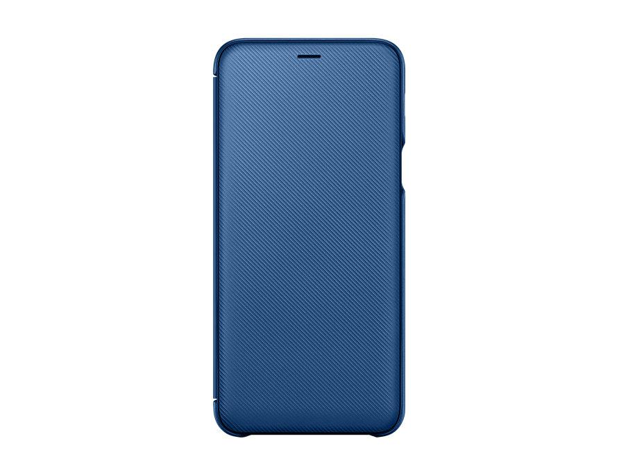 Чехол-книжка для Samsung Galaxy A6+ 2018 Samsung Wallet Cover Blue флип, полиуретан, пластик чехол книжка samsung flip wallet для samsung galaxy j1 2016 золотистый