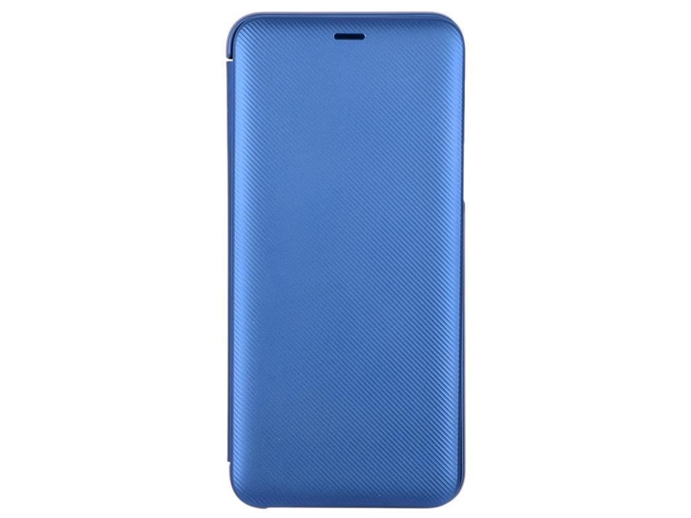 Чехол-книжка для Samsung Galaxy A6+ 2018 Samsung Wallet Cover Blue флип, полиуретан, пластик samsung чехол книжка samsung для galaxy note8 полиуретан черный