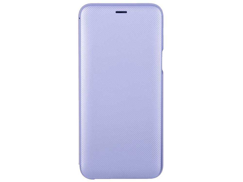 Чехол-книжка для Samsung Galaxy J6 2018 Samsung Wallet Cover Purple флип, полиуретан, поликарбонат samsung чехол книжка samsung для galaxy note8 полиуретан черный