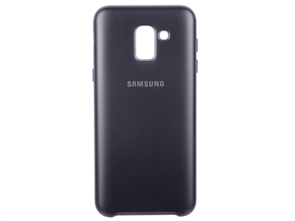 Чехол-накладка для Samsung Galaxy J6 (2018) Dual Layer Cover (EF-PJ600CBEGRU) Black клип-кейс, плиуретан, пликарбонат клип кейс samsung samsung galaxy j6 dual layer cover black ef pj600cbegru