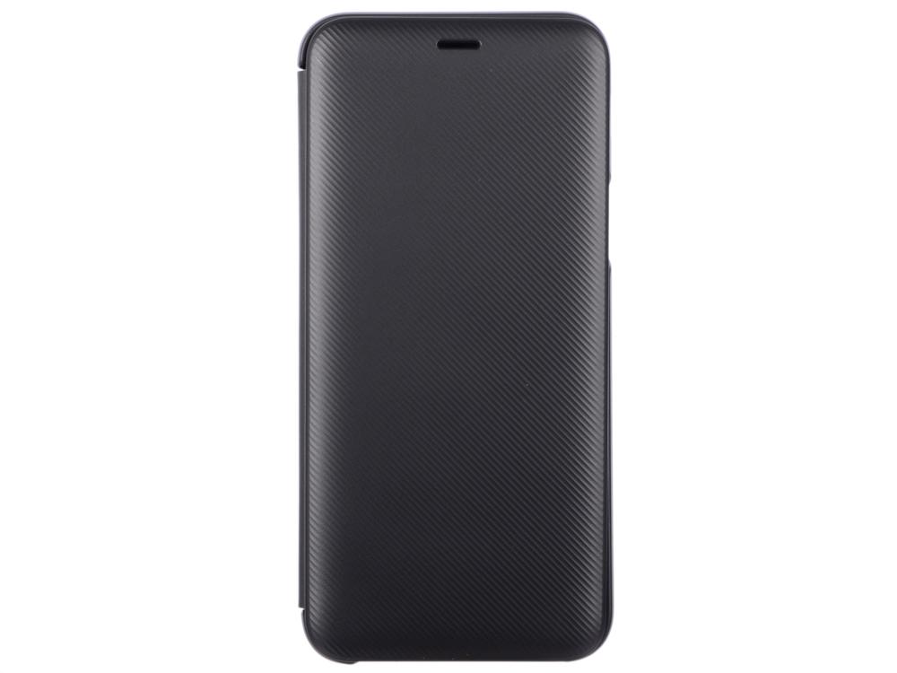 Чехол-книжка для Samsung GALAXY A6 2018 Samsung Wallet Cover Black флип, полиуретан, поликарбонат samsung чехол книжка samsung для samsung galaxy a7 2017 полиуретан золотистый