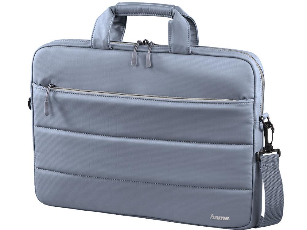 """Сумка для ноутбука 13.3"""" Hama Toronto серый/голубой нейлон (00101850)"""