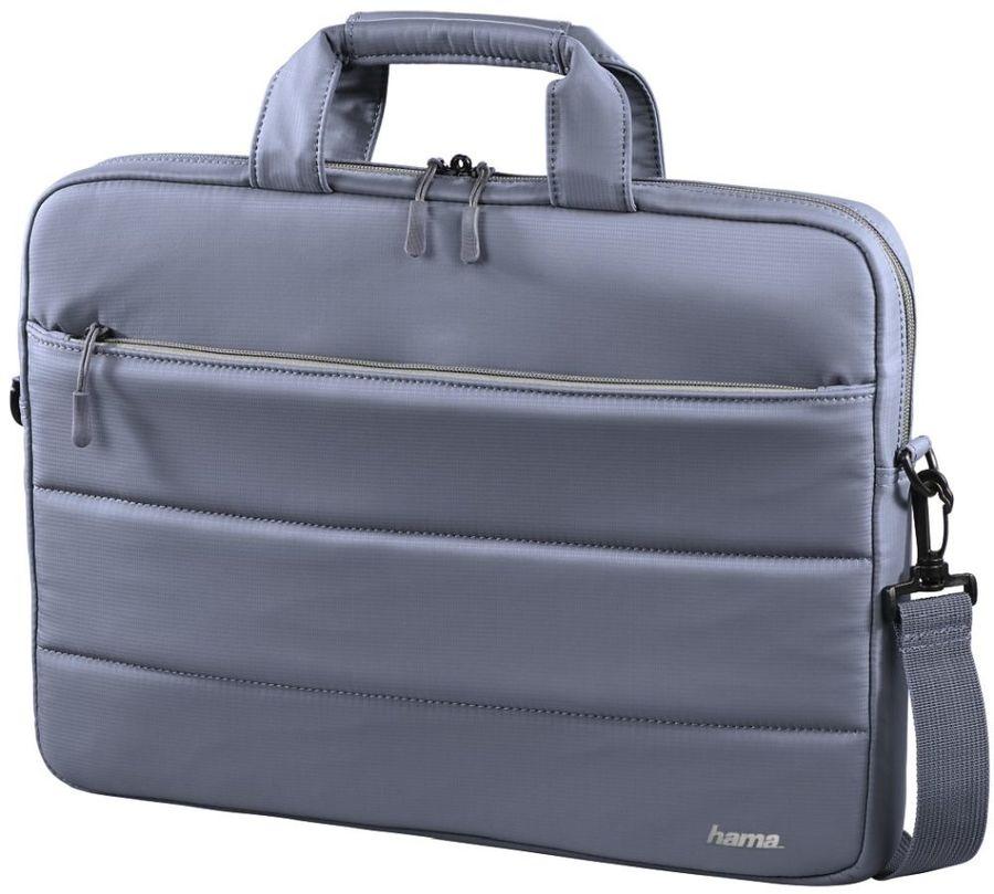Сумка для ноутбука 15.6 Hama Toronto серый/голубой нейлон (00101851)