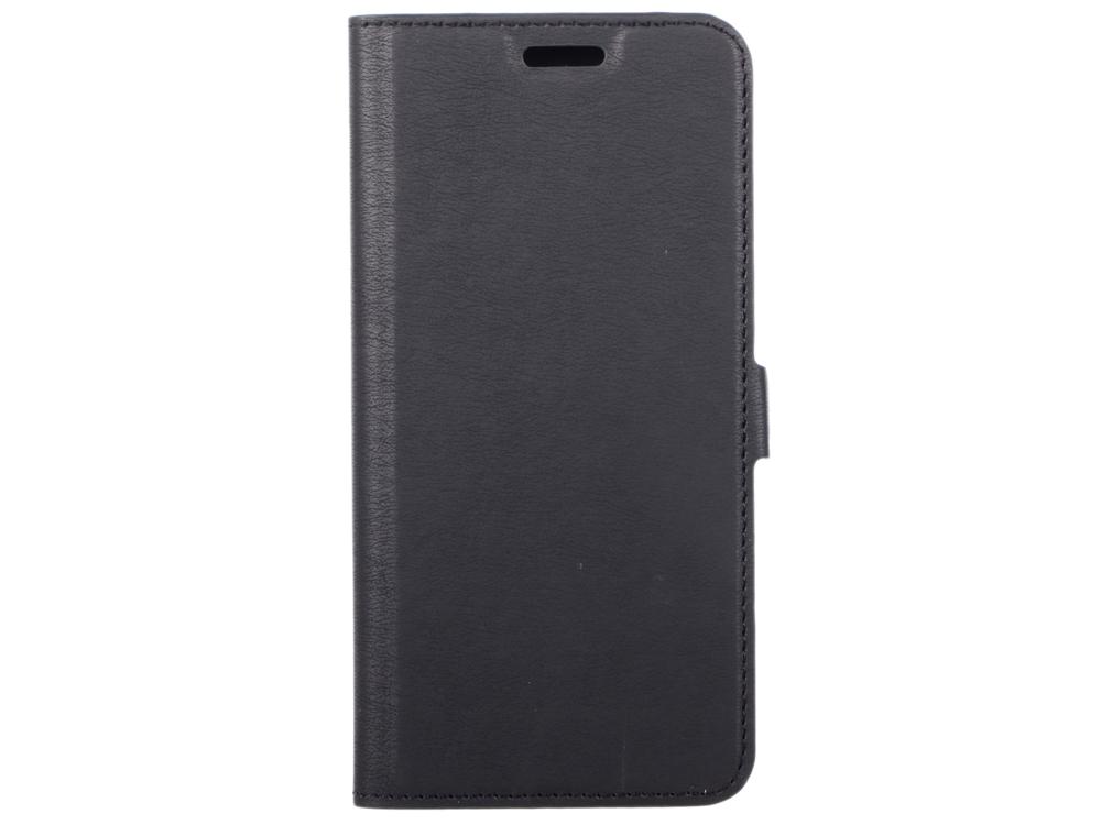 Чехол-книжка для Samsung Galaxy S9 DF sFlip-27 Black флип, искусственная кожа, пластик розовый цветок дизайн искусственная кожа флип кошелек карты держатель чехол для samsung galaxy a3 2016 a310