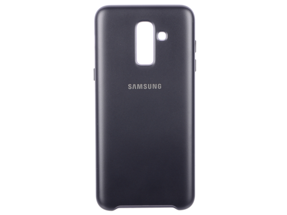 Чехол-накладка для Samsung Galaxy J8 Samsung Dual Layer Cover Black клип-кейс, полиуретан, поликарбонат все цены