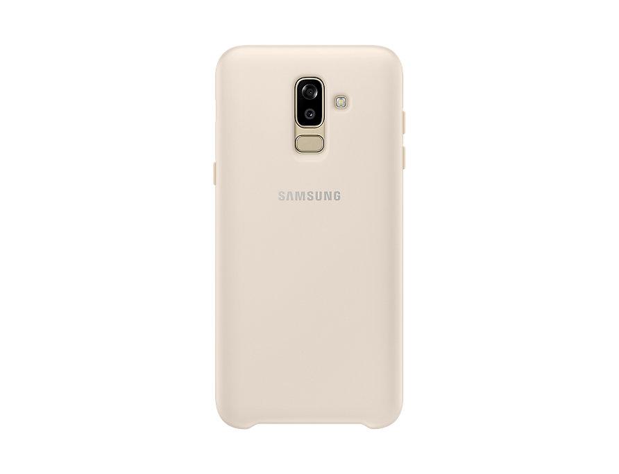 Чехол-накладка для Samsung Galaxy J8 2018 Samsung Dual Layer Cover Gold клип-кейс, полиуретан, поликарбонат клип кейс samsung dual layer ef pj330 для galaxy j3 2017 голубой