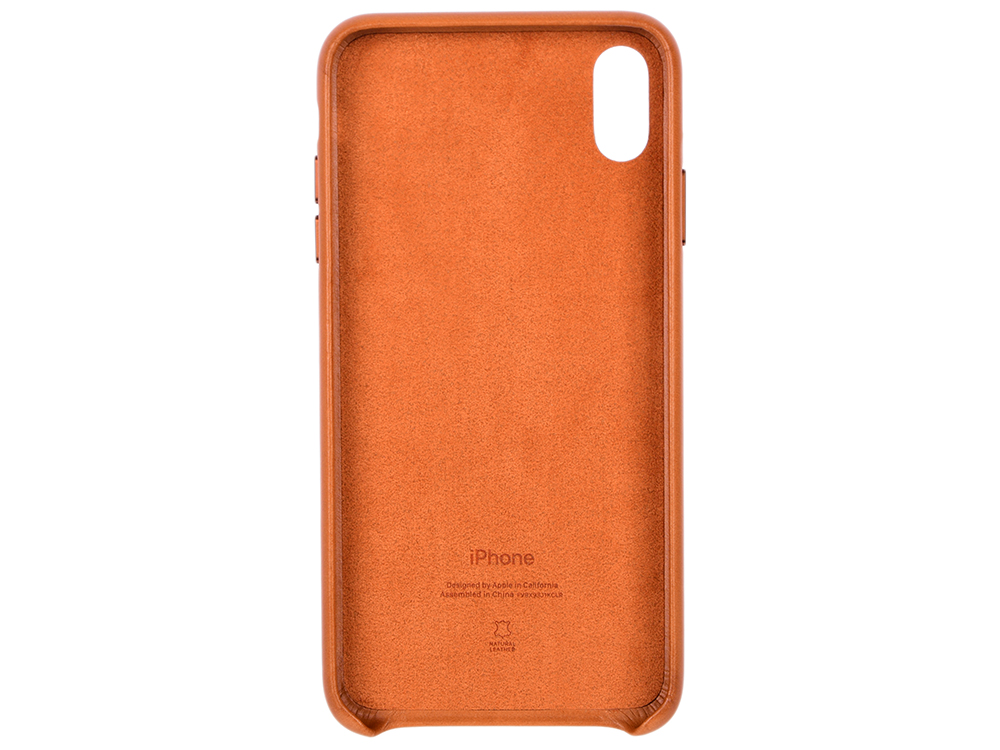 Чехол-накладка iPhone XS Max Apple Leather Case Saddle Brown клип-кейс, кожа