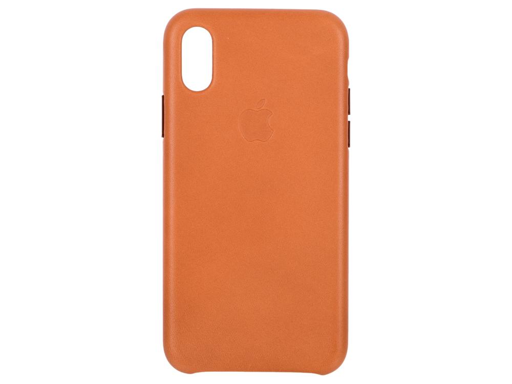 Накладка Apple Leather Case для iPhone XS золотисто-коричневый MRWP2ZM/A fashion 360 rotating case for ipad pro 12 9 inch litchi leather stand back cover apple fundas