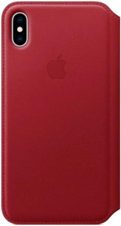 Чехол-книжка для iPhone XS Max Leather Folio - PRODUCT MRX32ZM/A RED флип, кожа цены