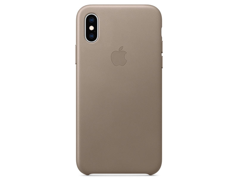 Накладка Apple Leather Case для iPhone XS платиново-серый MRWL2ZM/A накладка apple leather case для iphone 7 красный mmy62zm a