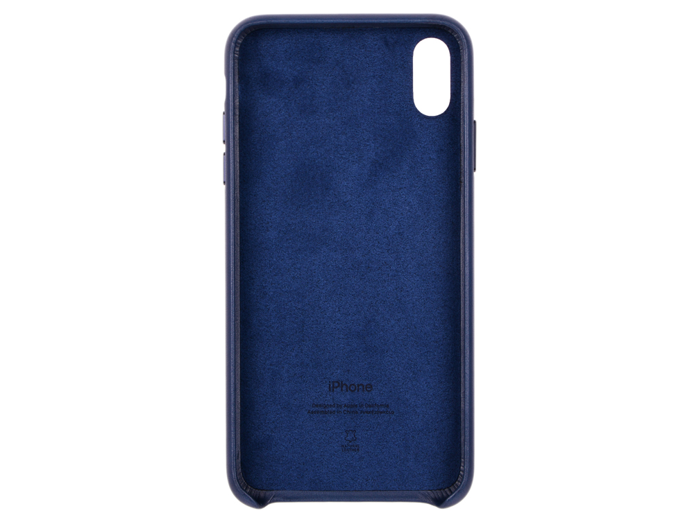 Чехол-накладка для iPhone XS Max Apple Leather Case MRWU2ZM/A Midnight Blue клип-кейс, кожа клип кейс apple iphone xs силиконовый mtf92zm a blue