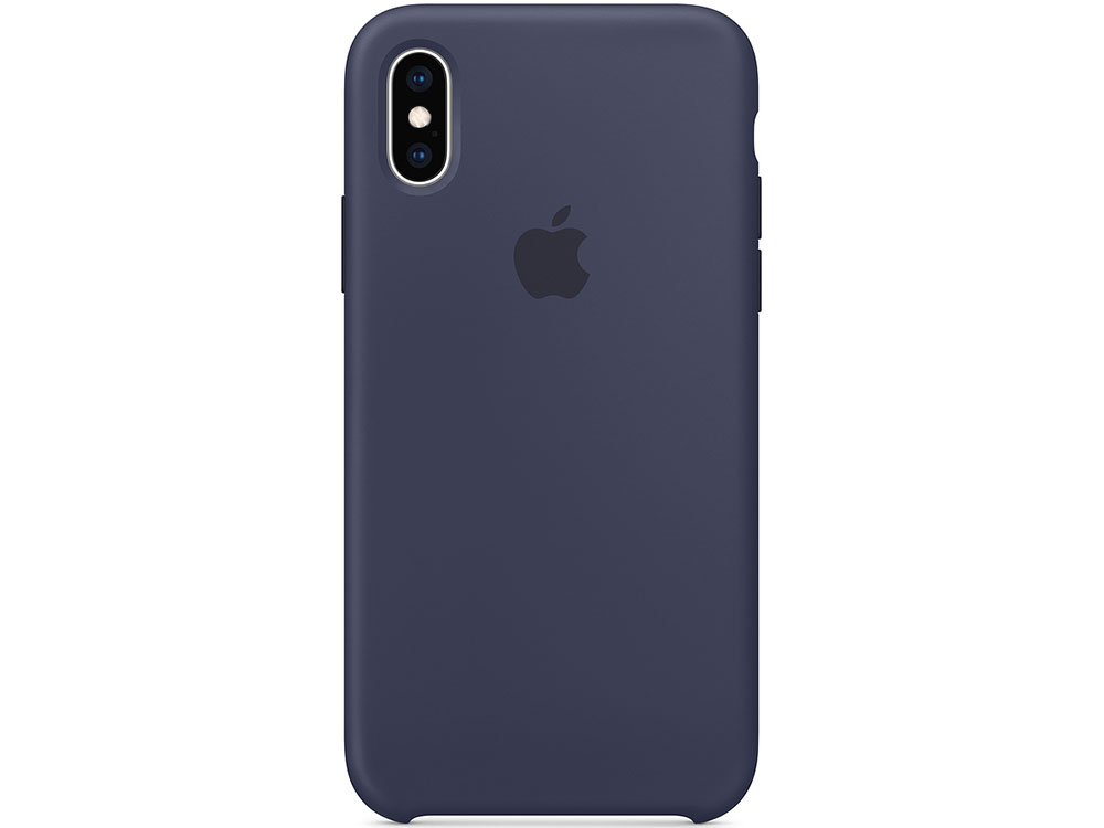 Чехол iPhone XS Silicone Case - Midnight Blue