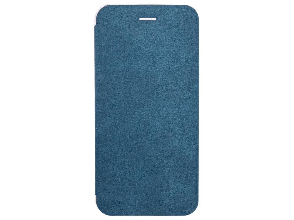 Чехол-книжка для IPhone 6/7/8 BoraSCO Book Case Сине-зеленый флип, экозамша, пластик
