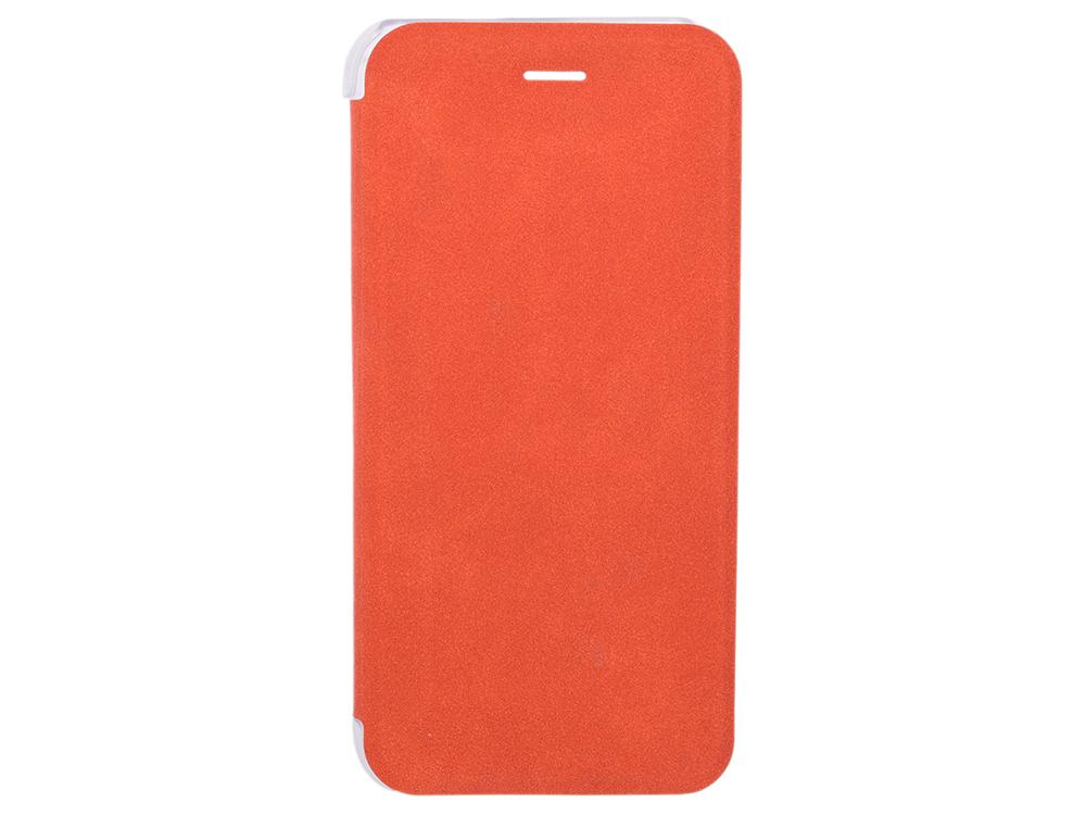 цены Чехол-книжка для IPhone 6/7/8 BoraSCO Book Case Orange флип, искусственная кожа, пластик