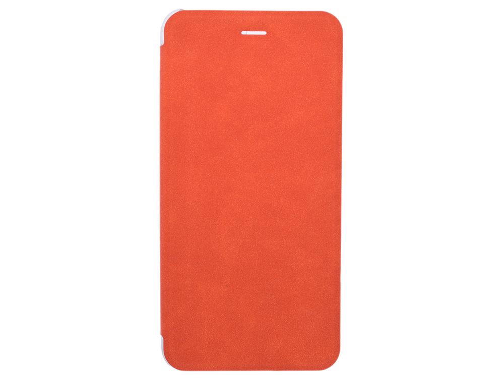 Чехол-книжка для IPhone 6+/7+/8+ BoraSCO Book Case Orange флип, экозамша, пластик чехол книжка borasco book case для iphone x белый