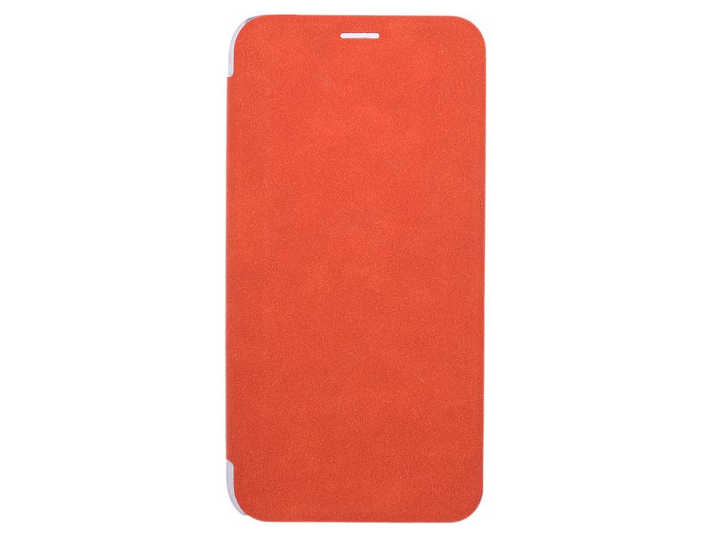 Чехол-книжка для IPhone X/ Xs BoraSCO Book Case Orange флип, кожзаменитель, пластик чехол универсальный partner book case 5