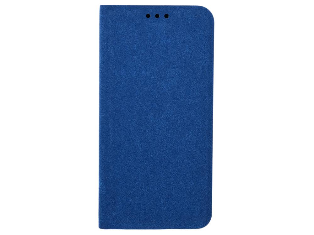 Чехол-книжка для Samsung Galaxy A6 BoraSCO Book Case Blue флип, кожзаменитель, силикон